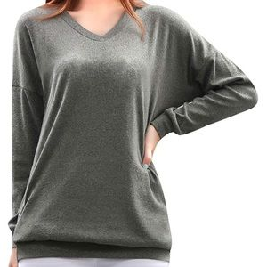 67a040605f7788 White Boat Neck Long Sleeve Pullover Top. $8 $15. Gray Comfortable Hoodie